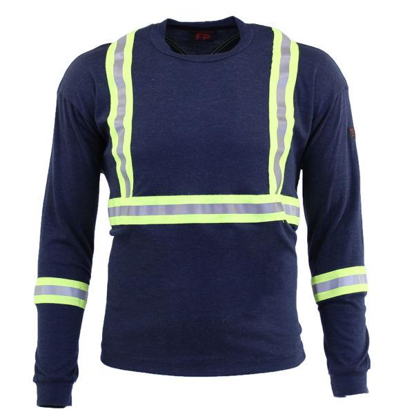 Picture of 74K06C1 Long Sleeve T-Shirt - 6.95oz PyroSafe Knit, w 3M Scotchlite®